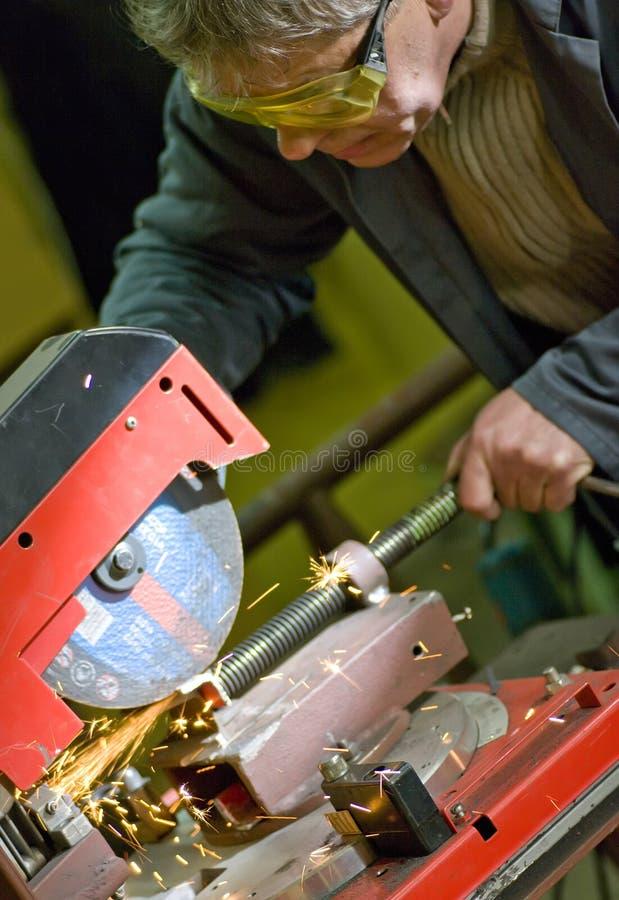 Het scherpe metaal van de metaalarbeider stock afbeeldingen