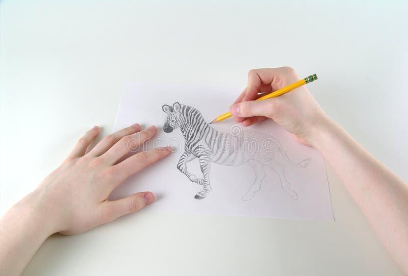 Het schetsen van kunstenaar royalty-vrije stock afbeeldingen
