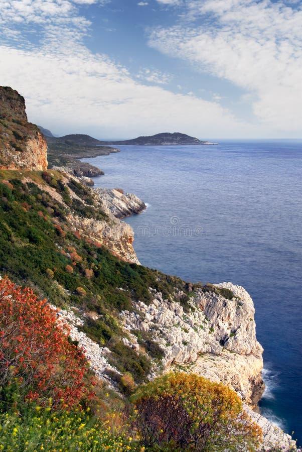 Het schiereiland van Mani, zuidelijk Griekenland royalty-vrije stock foto