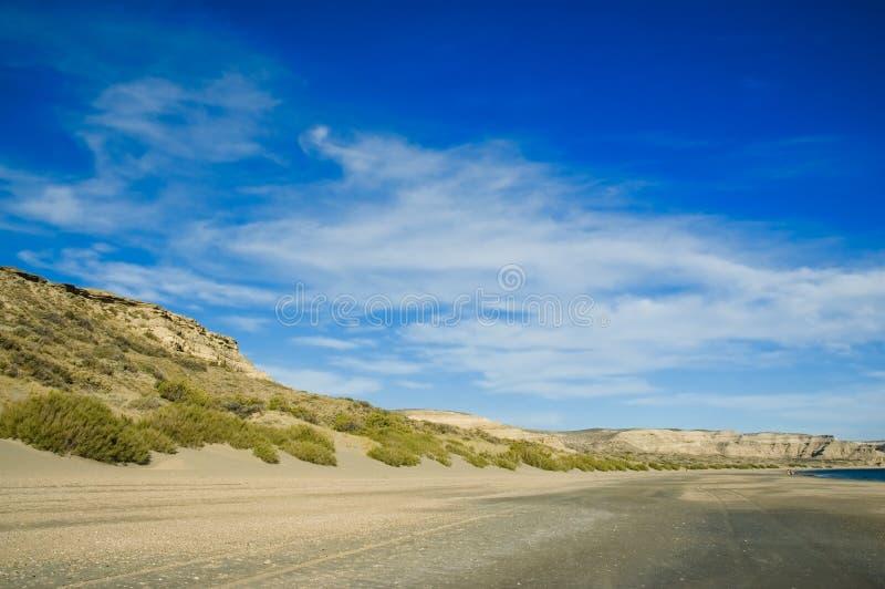 Het Schiereiland van Valdes, Argentinië. royalty-vrije stock afbeelding