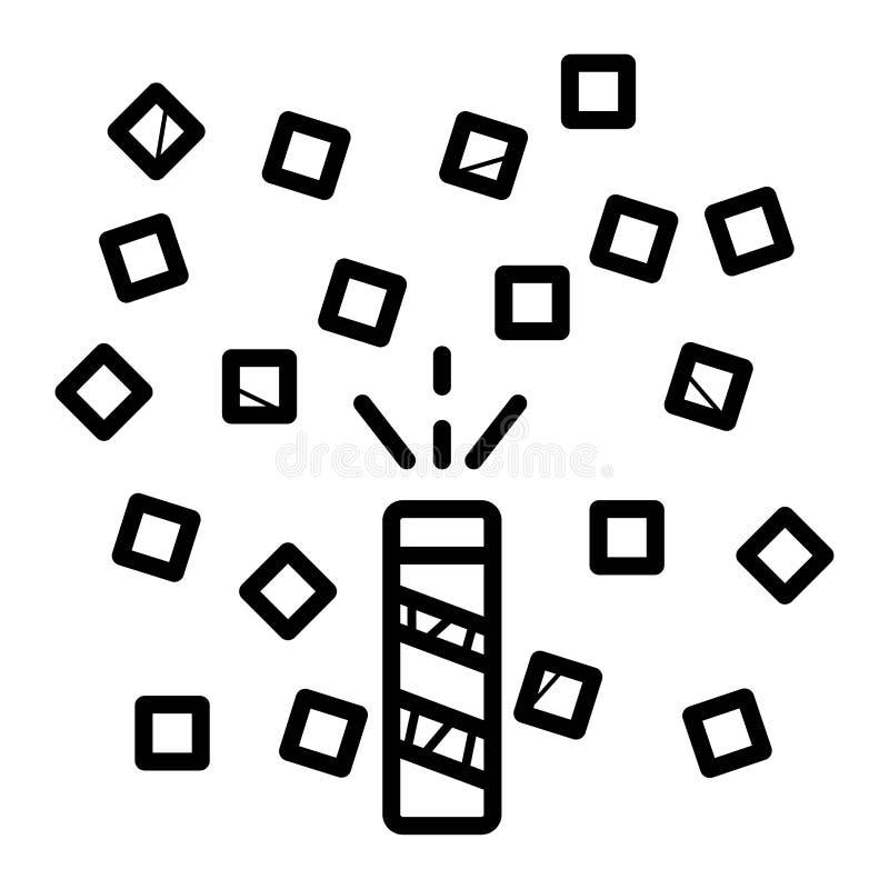 Het schieten van de vectorillustratie van het grove humorpictogram vector illustratie