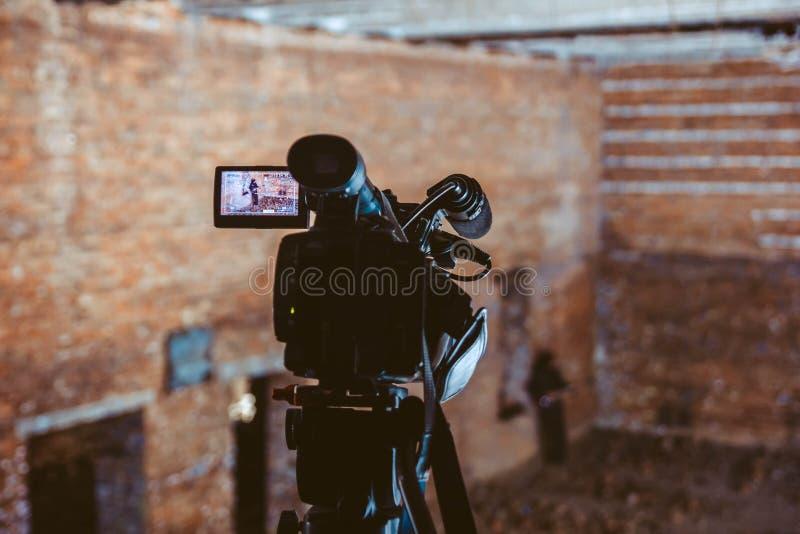 Het schieten van een muziekvideo royalty-vrije stock foto's