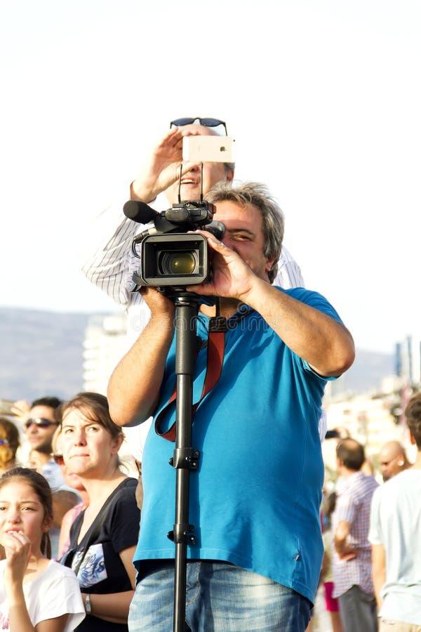 Het schieten voor Viering van de Onafhankelijkheidsdag van Izmir ` s stock afbeeldingen