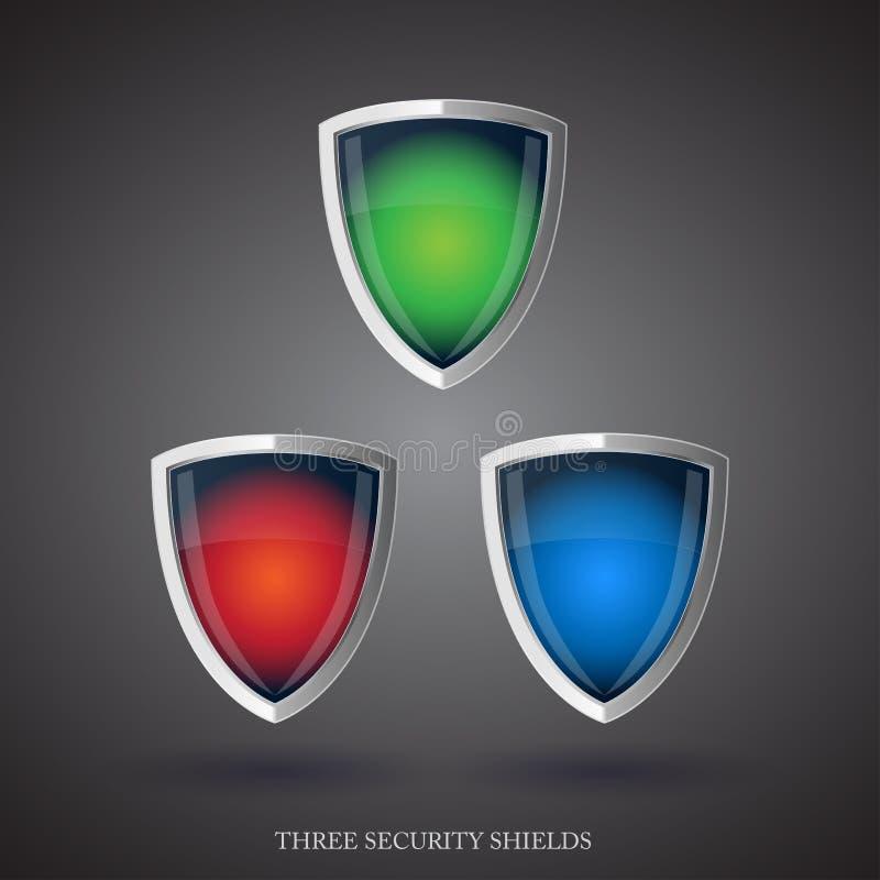 Het schild van de beschermer - antivirus stock illustratie