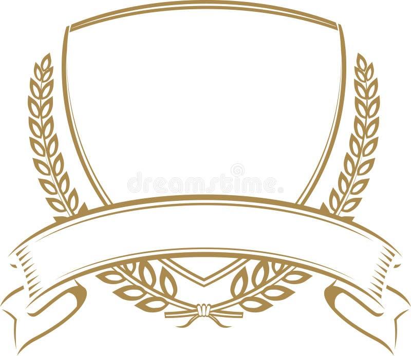Het Schild van de tarwe stock illustratie