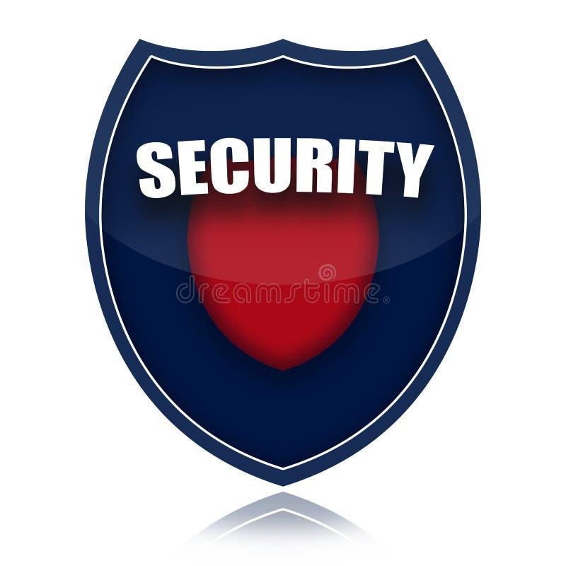 Het schild van de veiligheid vector illustratie