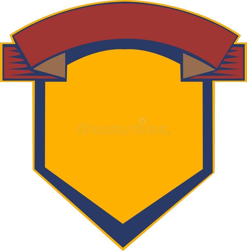Het schild van de wapenkunde vector illustratie