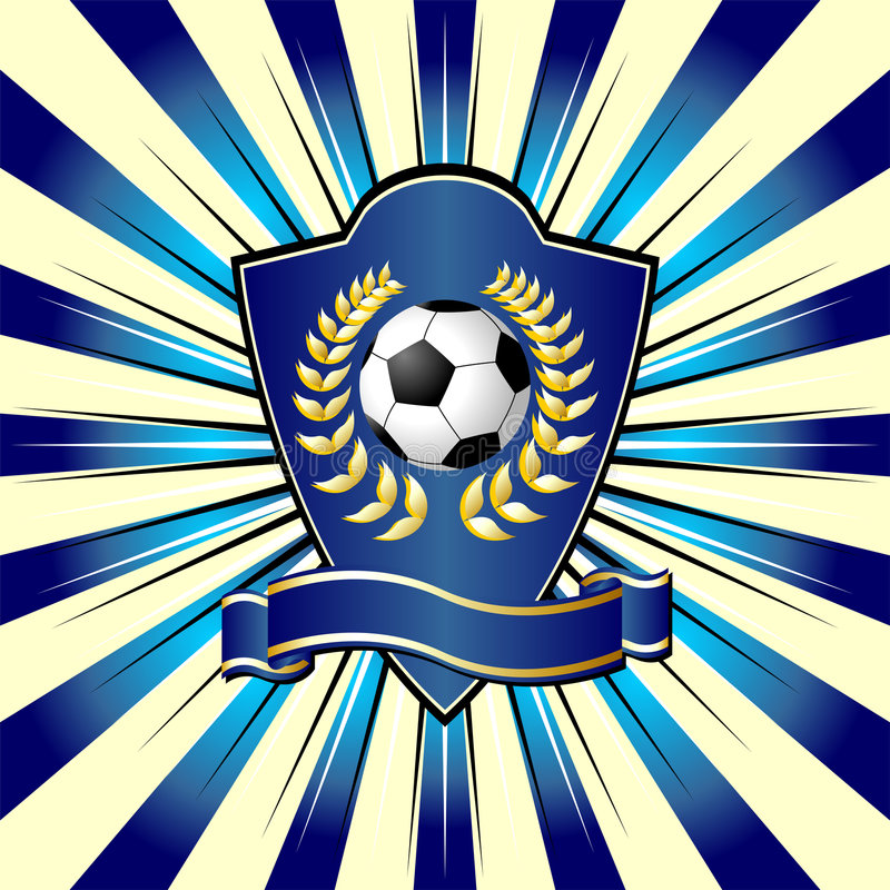 Het schild van het voetbal royalty-vrije illustratie