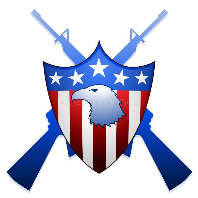 Het schild van Verenigde Staten vector illustratie