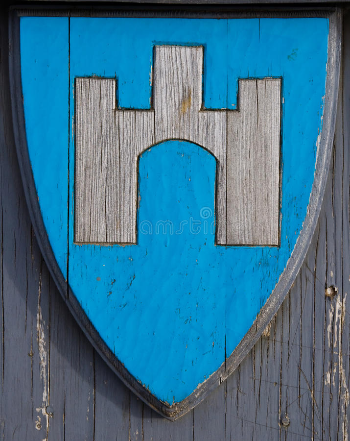Het Schild van Viking stock afbeelding