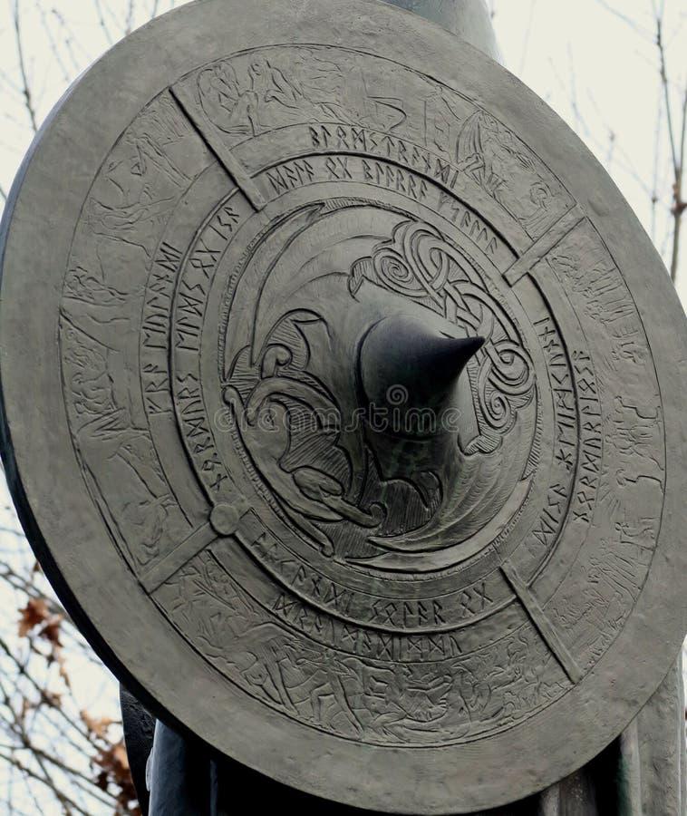 Het Schild van Viking royalty-vrije stock foto