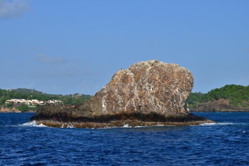 Het schilderachtige Eiland Heilige Lucia in de Antillen royalty-vrije stock afbeelding