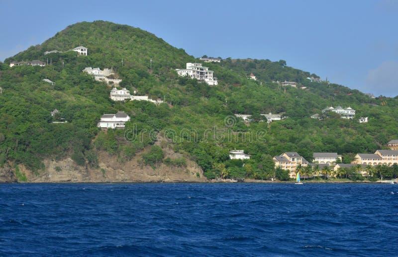 Het schilderachtige Eiland Heilige Lucia in de Antillen royalty-vrije stock afbeeldingen