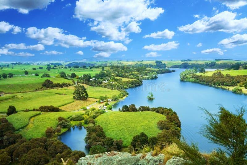 Het schilderachtige landschap van Nieuw Zeeland stock fotografie