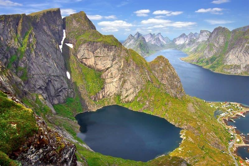 Het schilderachtige landschap van Noorwegen stock foto's