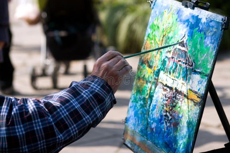 Het schilderen stock afbeelding