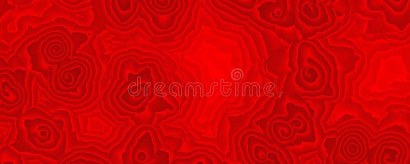 Het schilderen abstracte nam rood patroon toe stock fotografie
