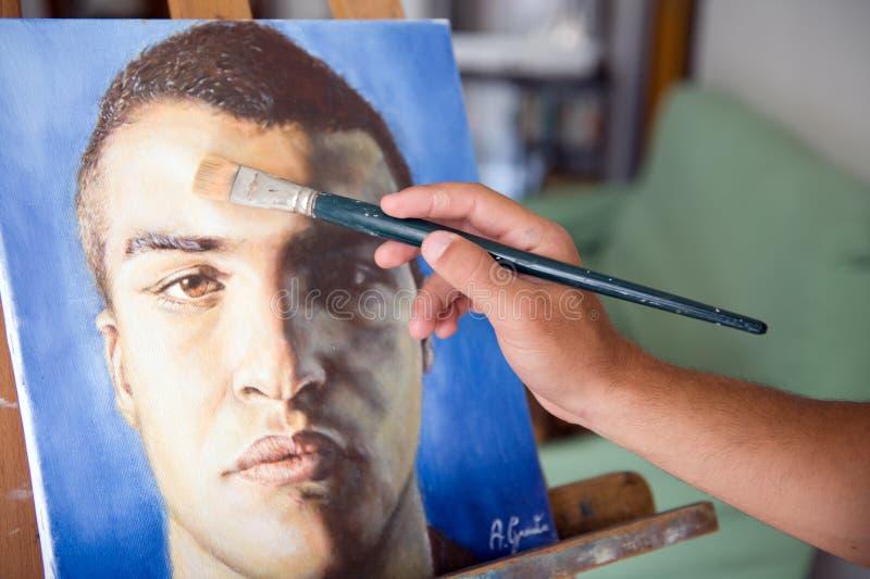 Het schilderen - Arabier vector illustratie
