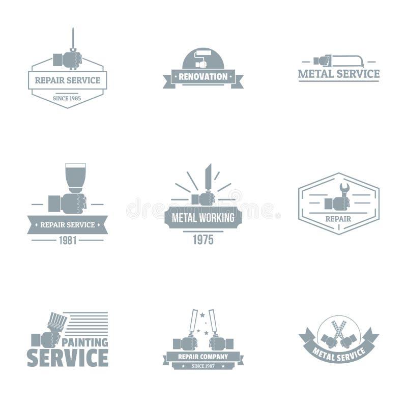 Het schilderen de reeks van het de dienstenembleem, eenvoudige stijl vector illustratie