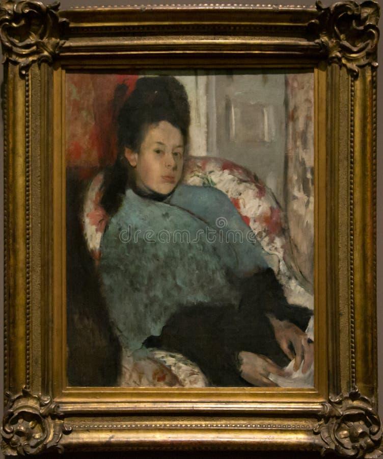 Het schilderen door Hilaire German Edgar Degas in het National Gallery in Londen stock foto's