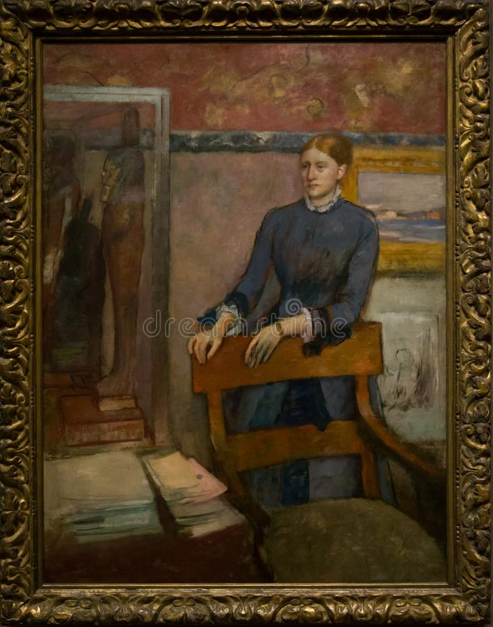 Het schilderen door Hilaire German Edgar Degas in het National Gallery in Londen royalty-vrije stock foto's