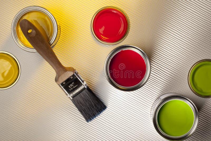 Het schilderen en het Verfraaien - Binnenlands Ontwerp royalty-vrije stock foto's