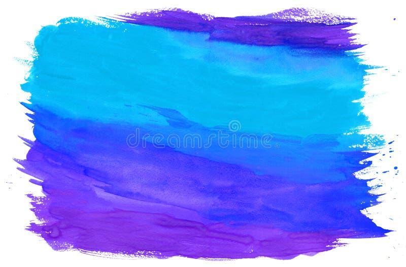 Het schilderen Geweven Blauw en Purple Als achtergrond stock fotografie