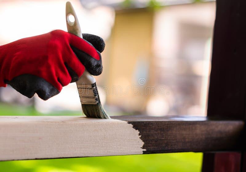 Het schilderen houten oppervlakte royalty-vrije stock foto's