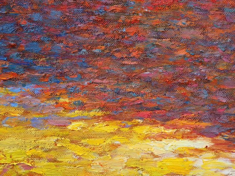 Het schilderen kleurentextuur Abstracte achtergrond heldere kleuren artistieke plonsen Multi kleurenachtergrond Fractal kunstwerk stock afbeelding