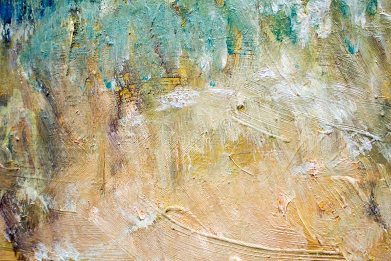 Het schilderen met oliën op canvas voor de achtergrond van een belangrijke slag royalty-vrije stock foto's