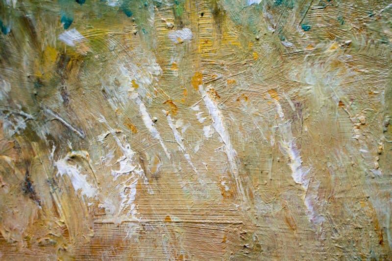 Het schilderen met oliën op canvas voor de achtergrond van een belangrijke slag stock afbeelding