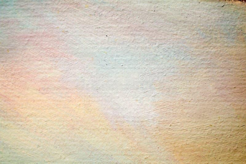 Het schilderen met oliën op canvas voor de achtergrond van een belangrijke slag stock foto