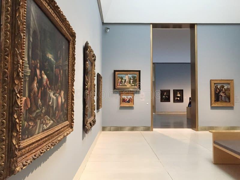 Het schilderen in Museum van beeldende kunsten Houston royalty-vrije stock foto