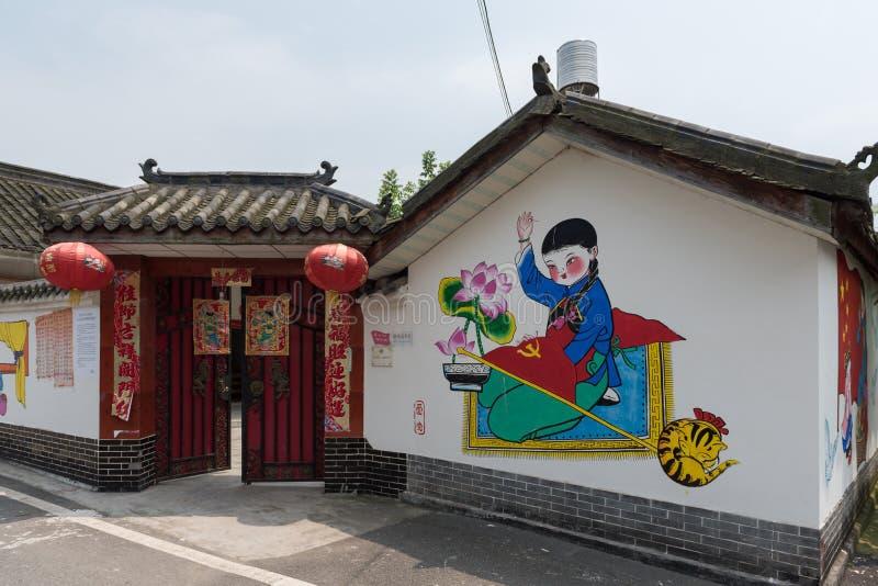 Het schilderen op de muur royalty-vrije stock afbeeldingen