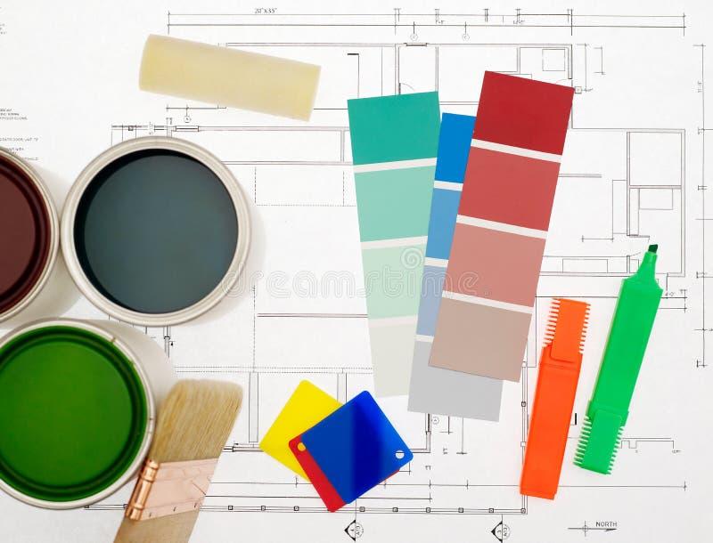 Het schilderen projectconcept stock afbeelding