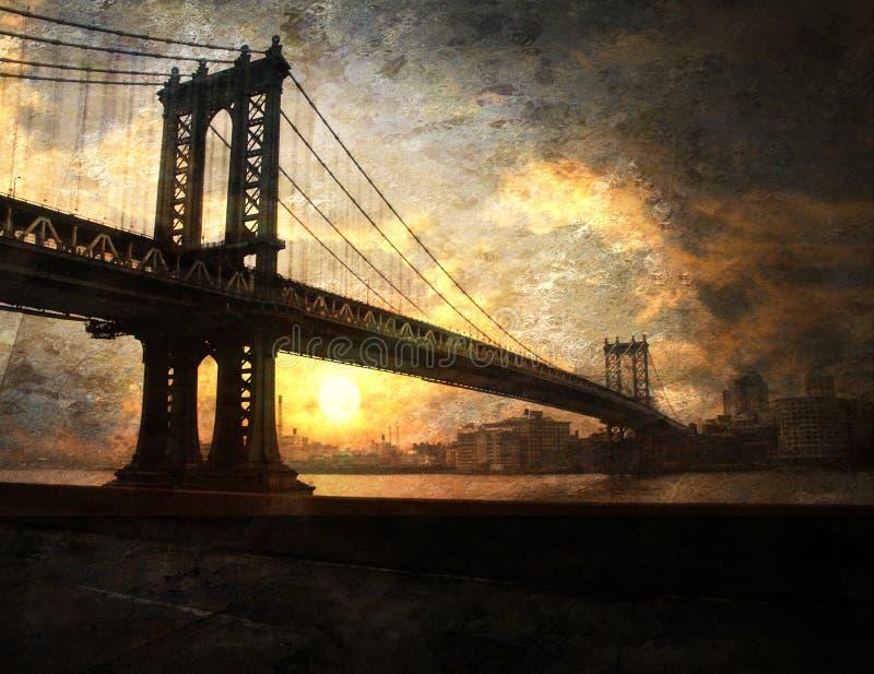 Het schilderen van de brug royalty-vrije stock foto's