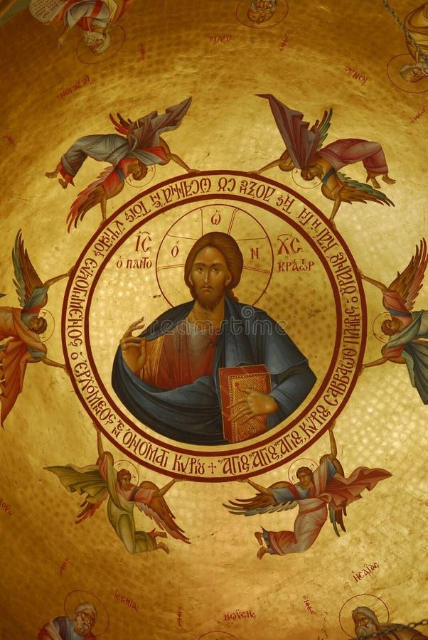 Het schilderen van de fresko stock afbeeldingen
