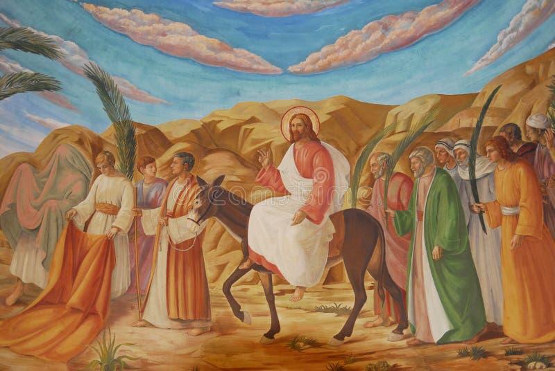 Het Schilderen van de fresko royalty-vrije stock afbeeldingen