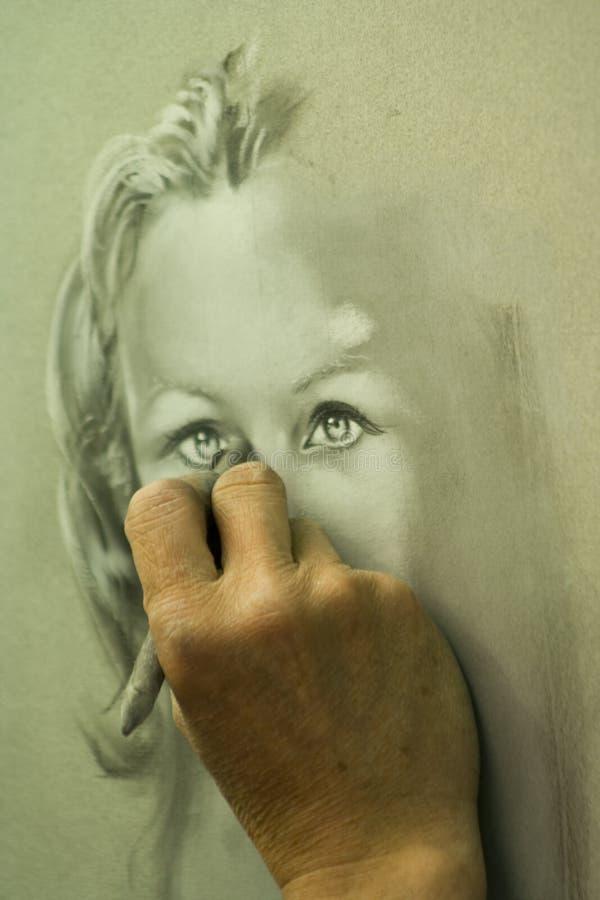 Het schilderen van de hand royalty-vrije stock afbeelding