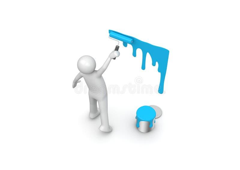 Het schilderen van de muur stock illustratie