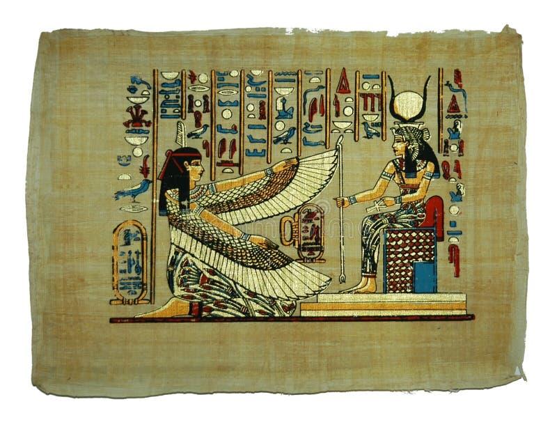 Het schilderen van de papyrus stock foto's