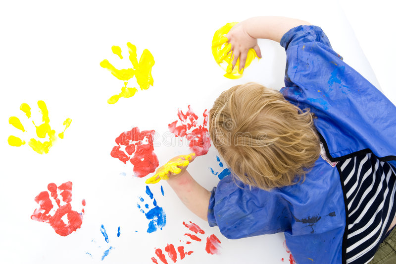 Het schilderen van de vinger royalty-vrije stock foto