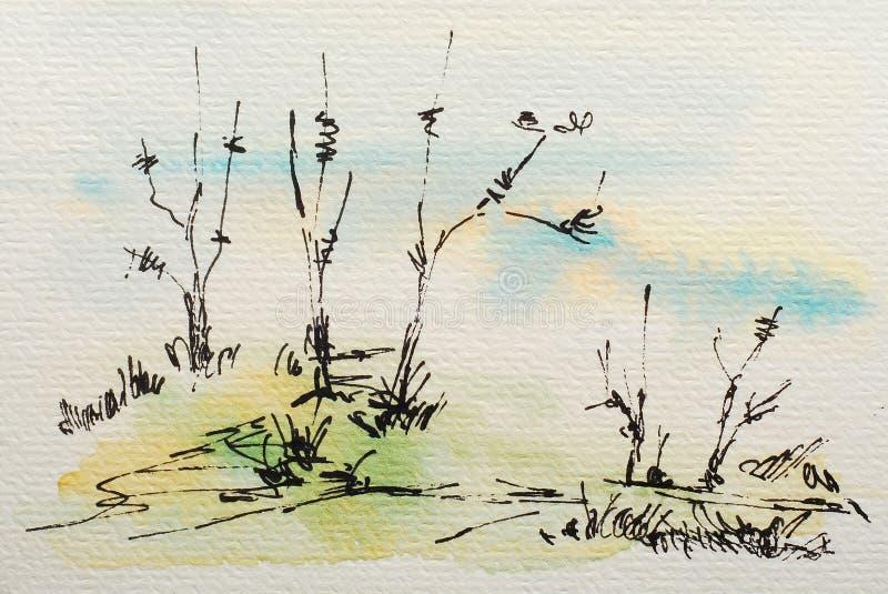 Het schilderen van de waterverf stock illustratie