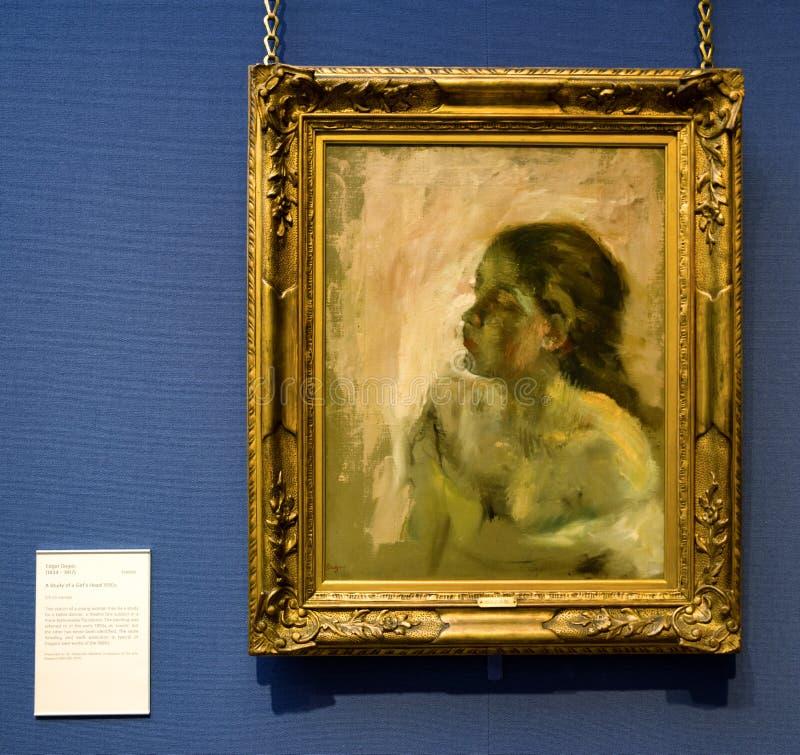 Het schilderen van Edgar Degas in Schotse nationale galerij in Edinburg royalty-vrije stock afbeelding