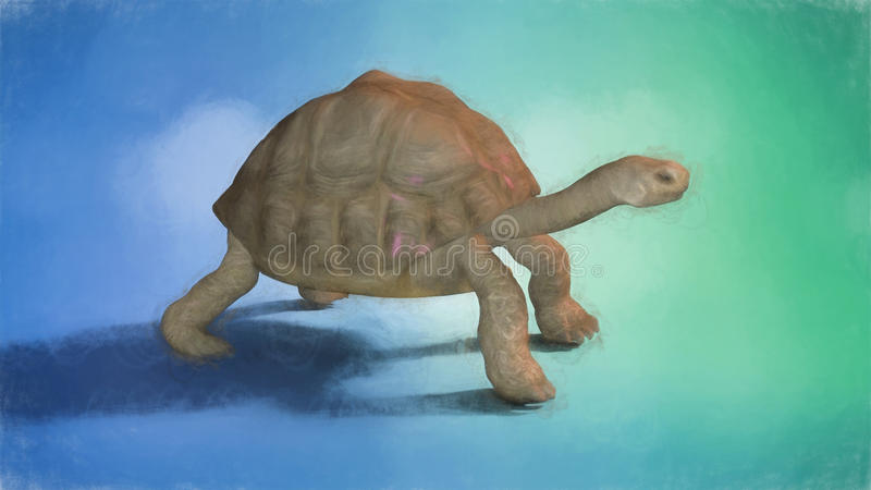 Het schilderen van een Schildpad royalty-vrije stock fotografie