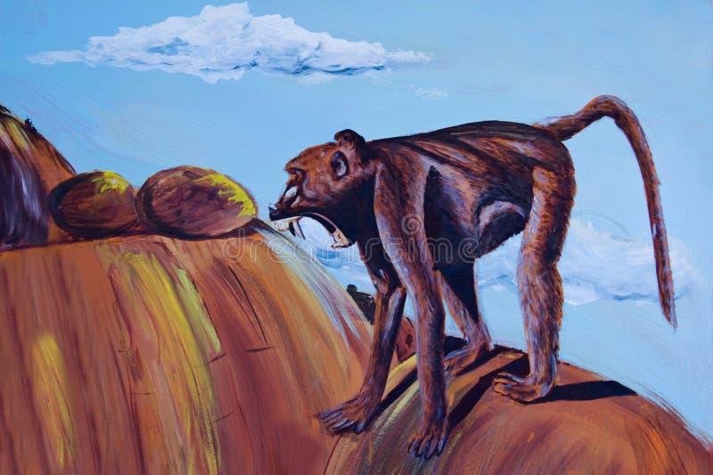 Het schilderen van een wilde baviaan royalty-vrije stock fotografie