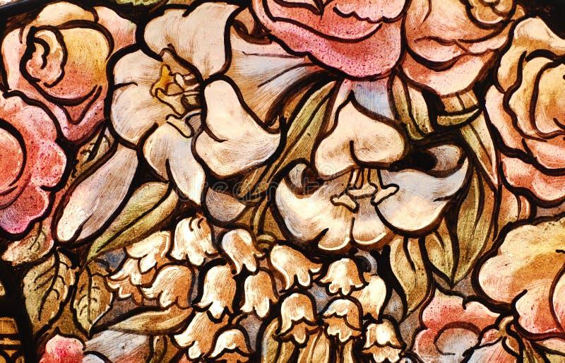 Het Schilderen van het Glas van de bloem stock foto's