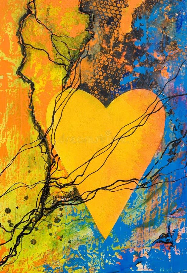 Het schilderen van het hart stock illustratie