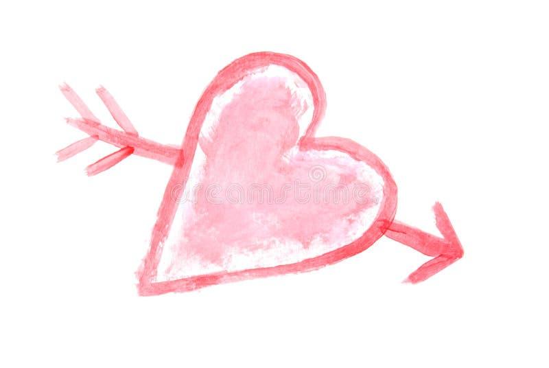 Het Schilderen van het hart stock afbeeldingen