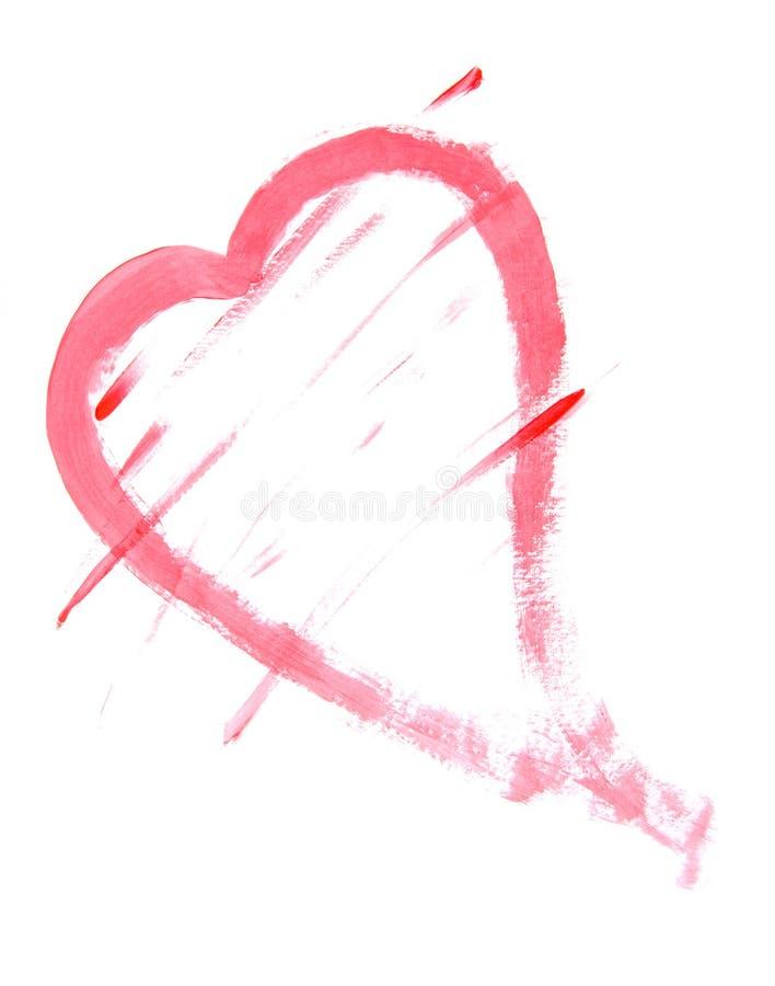 Het Schilderen van het hart stock afbeelding